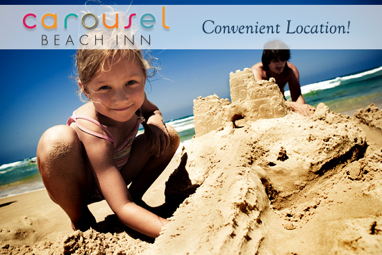 Carousel Beach Inn: Convenient Location